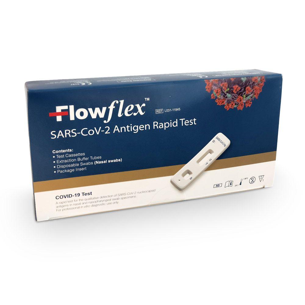 slide image ACON Flowflex Coronavirus SARS-CoV-2-Antigenschnelltest zur Eigenanwendung gem. BfArM   Anterio-Nasale (Nase vorne)